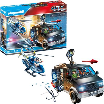 Playmobil City Action Police Helicopter Pursuit with Runaway Van (70575)