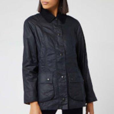 Barbour Women's Beadnell Wax Jacket - Navy - UK 14