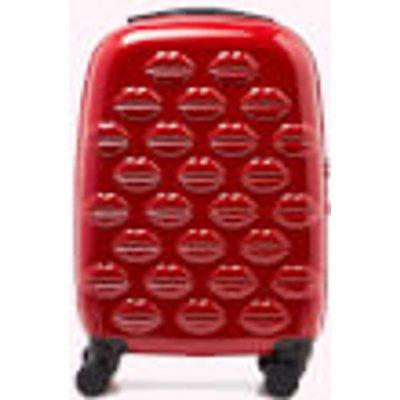 Lulu Guinness Women s Small Lips Hardside Spinner Case   Classic Red - 5056238005916