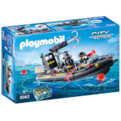 Playmobil City Action SWAT Boat with Hook Cannon (9362)