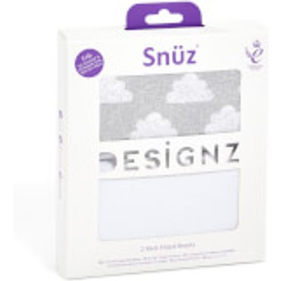 Sn  z Bedside Crib 2 Pack Fitted Sheets   Cloud Nine - 5060730240416