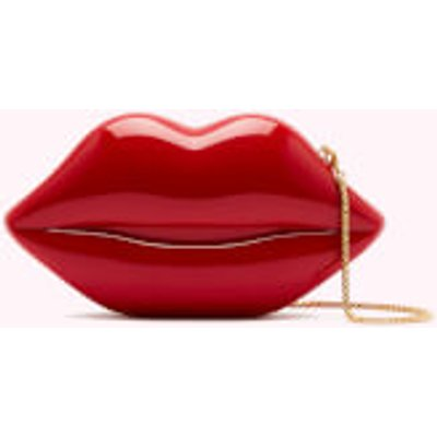 Lulu Guinness Women s Medium Lips Clutch Bag   Classic Red - 5056238007736