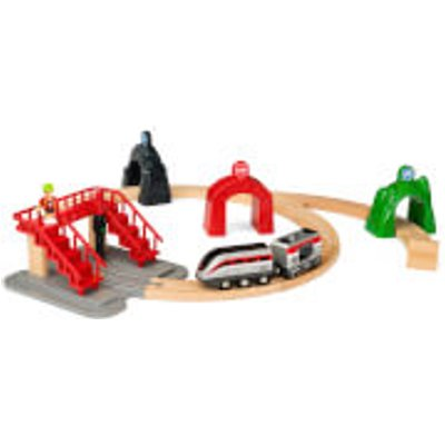 BRIO World - Smart Tech Railway Engine Set with Action Tunnels