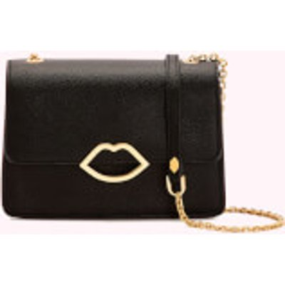 Lulu Guinness Women s Cut Out Lip Polly Shoulder Bag   Black - 5056238006050