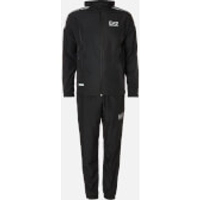 Emporio Armani EA7 Men s Hooded Reflective Tracksuit   Black   XL - 8055187992770