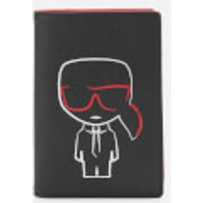 Karl Lagerfeld Women's K/Ikonik Outline Passport Holder - Black
