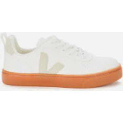 Veja Kid's V10 Lace Leather Trainers - White/natural/Gum Sole - UK 1.5 Kids
