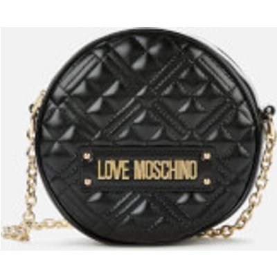 Love Moschino Women s Round Quilted Bag   Black - 8059826236829