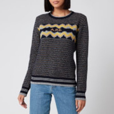 A.P.C. Women's Adele Jumper - Dark Navy - L