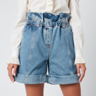Philosophy di Lorenzo Serafini Women's Denim Shorts - Blue - IT 42/UK 10