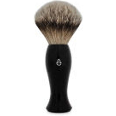 eShave Silvertip Badger Hair Shaving Brush Long Handle   Black - 613443830099