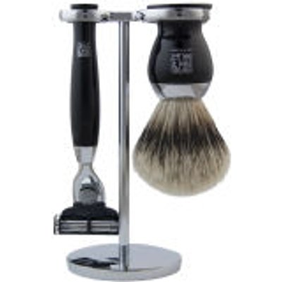 Geo  F  Trumper PBS Chrome Shaving Stand for Razor and Brush - 5038607630066