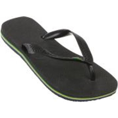 Havaianas Brasil Flip Flops - Black - EU 43-44/UK 9-10 - Black