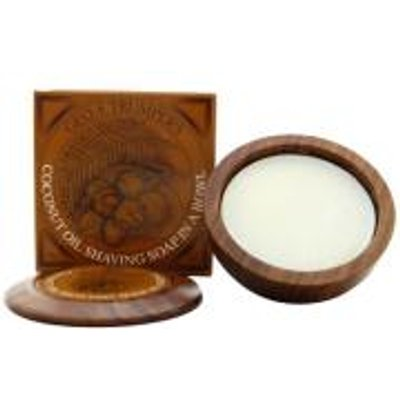 Trumpers Wooden Shave Bowl   Coconut  Sensitive Dry Skin   80g  - 5038607094387