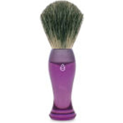 eShave Finest Badger Hair Shaving Brush Long Handle   Purple - 613443820021