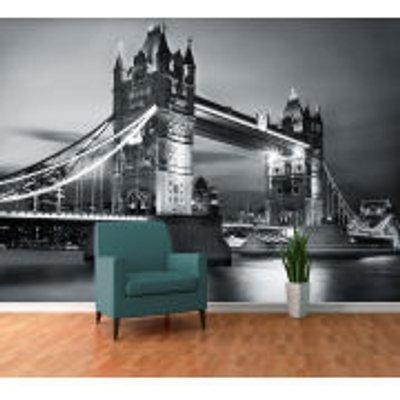 London Tower Bridge by Night Wall Mural