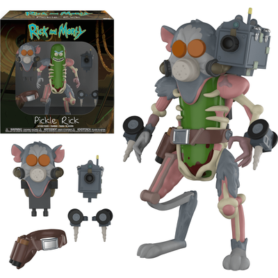Rick and Morty Pickle Rick Action Figure