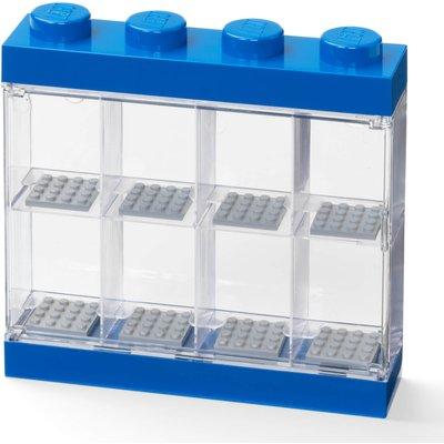 LEGO Mini Figure Display (8 Minifigures) - Blue