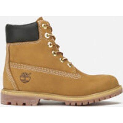 Timberland Women s 6 Inch Premium Leather Boots   Wheat   UK 5   Tan - 000907736620