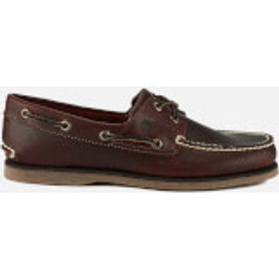 Timberland Men s Classic 2 Eye Boat Shoes   Rootbeer Smooth   UK 11   Brown - 657603597125