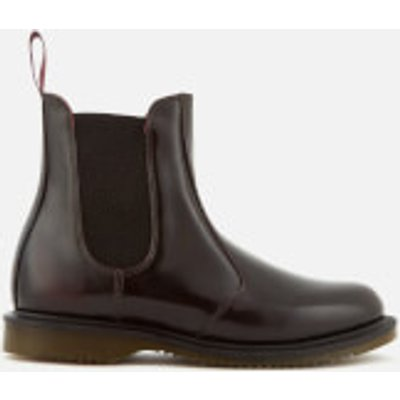 Dr  Martens Women s Kensington Flora Arcadia Leather Chelsea Boots   Cherry Red   UK 7   Burgundy - 883985461789