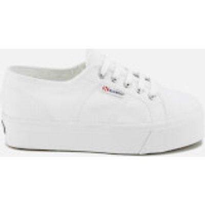 Superga Women s 2790 Linea Up Down Flatform Trainers   White   UK 6   White - 8058128331683