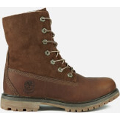 Timberland Women s Authentics Teddy Fleece Waterproof Fold Over Boots   Tobacco Forty   UK 6   Brown - 887235756830