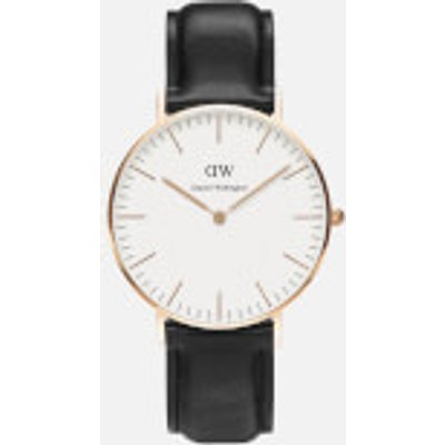 Daniel Wellington Men s Classic Sheffield Rose Watch   Black - 7350068240072