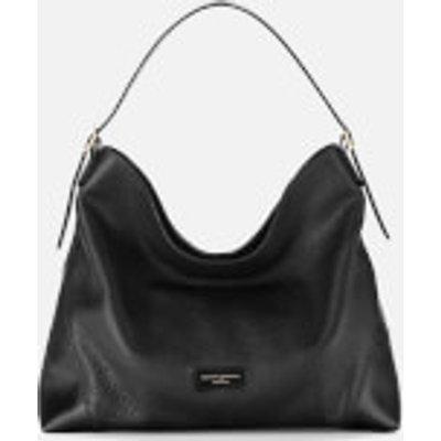 Aspinal of London Women s A Hobo Bag   Black Pebble - 5055264191969
