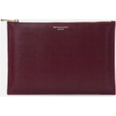 Aspinal of London Women s Essential Large Flat Pouch   Burgundy - 5055264123540