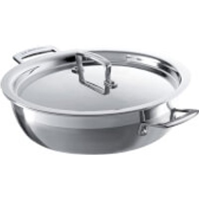 Le Creuset 3-Ply Stainless Steel Shallow Casserole Dish - 24cm, Silver
