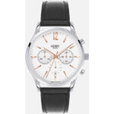Henry London Large Highgate Watch   Black Silver - 5018479078142