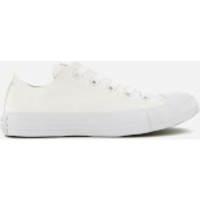 Converse Chuck Taylor All Star Ox Canvas Trainers   White Monochrome   UK 12 - 022861540075