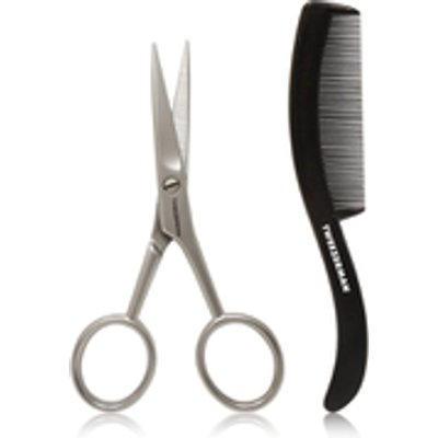 Tweezerman G E A R  Moustache Scissors   Comb - 038097009606