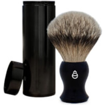 eShave Silvertip Badger Hair Travel Shaving Brush   Black - 613443830198