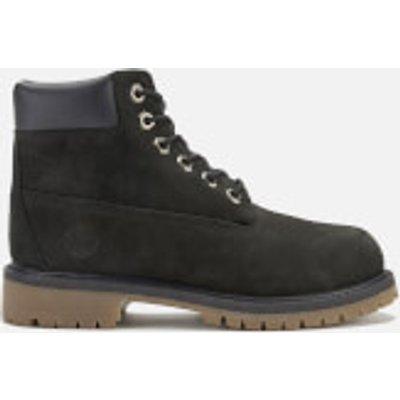 Timberland Kids  6 Inch Premium Waterproof Boots   Black   UK 1 Kids   Black - 768372705946