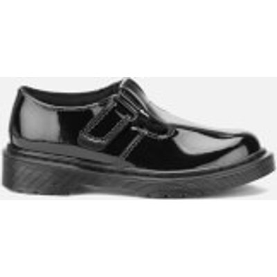 Dr  Martens Kids  Goldie Patent Lamper Leather Mary Jane Shoes   Black   UK 3 Kids   Black - 883985924659