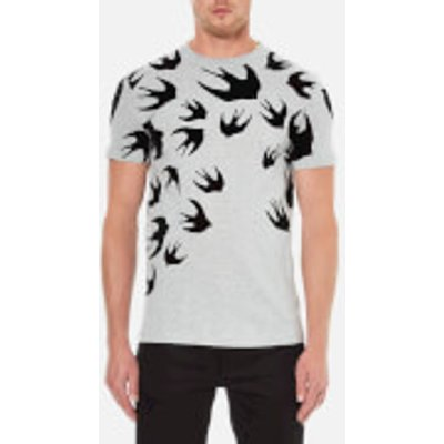 McQ Alexander McQueen Men's Swallow Swarm Flock T-Shirt - Mercury Melange - XXL - Grey