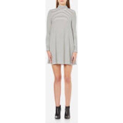 MINKPINK Women s Remember Me Striped Flared Dress   White Black   M   White Black - 9349391645362