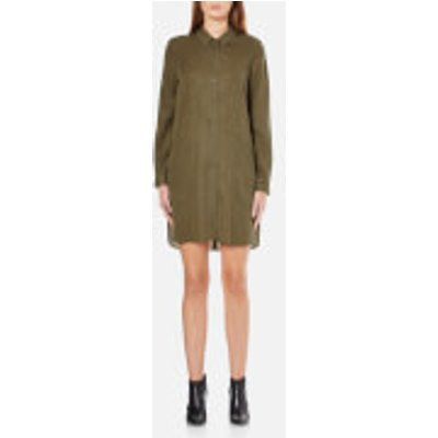 French Connection Women s Military Tencel Shirt Dress   Olive Night   UK 8   Green - 886928945681