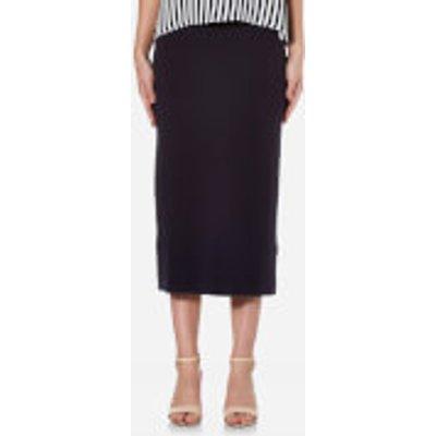 BOSS Orange Women s Leslirty Skirt   Dark Blue   M   Blue - 4021419325986