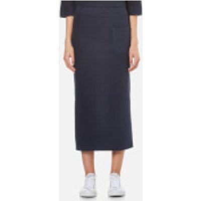 Selected Femme Women s Jula Slit Sweat Skirt   Dark Sapphire   S UK 8   Blue - 5713239120122