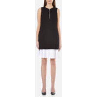 Karl Lagerfeld Women s Matt and Shine Layer Dress   Black   IT 42 UK 10   Black - 8718504538364