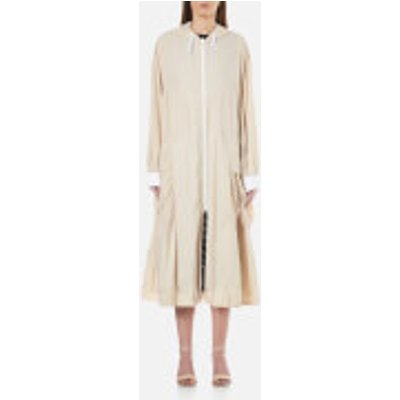 795731704128 | DKNY Women s Pure Reversible Oversized Hooded Coat   Gesso Nude   M L   White Nude