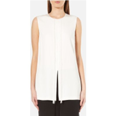 DKNY Women s Sleeveless Short Jumpsuit with Fringe and Piping   Gesso Black   UK 8 US 4   White Black - 795731754260