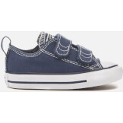 Converse Toddlers' Chuck Taylor All Star 2V Ox Trainers - Athletic Navy/White - UK 2 Toddler - Navy