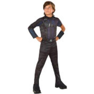Marvel Boys' Captain America Hawkeye Fancy Dress Costume - S - Black