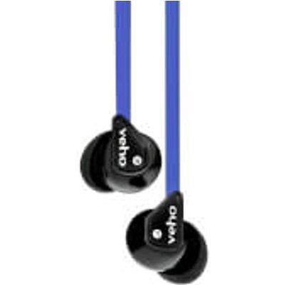 Veho 360 Stereo Noise Isolating Earphones   Blue - 040232924057
