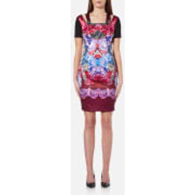 Versace Jeans Women s Multi Print Dress   Wisteria   EU 42 UK 10   Multi - 8057006222341