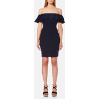Guess Women s Body Con Dress   Cotton Fancy   S   Blue - 7613351431626
